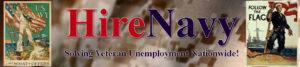 Hire Navy Long Logo